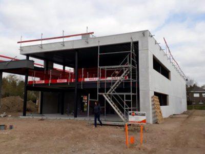 Begin bouw bedrijfspand